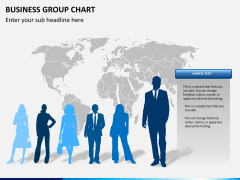 Business group chart PPT slide 10