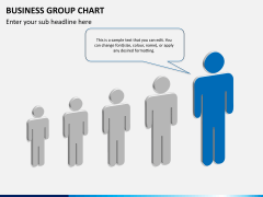 Business group chart PPT slide 8