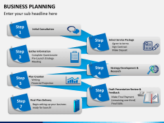 Business planning PPT slide 1