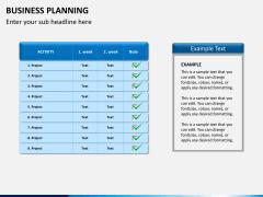 Business planning PPT slide 8