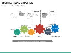 Business transformation PPT slide 38
