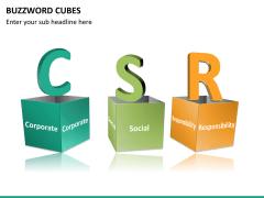 Buzzword cubes PPT slide 14