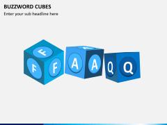 Buzzword cubes PPT slide 2