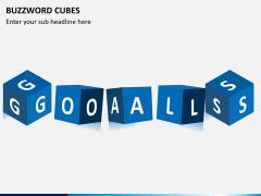 Buzzword cubes PPT slide 3
