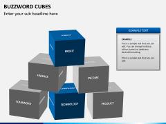 Buzzword cubes PPT slide 4