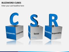 Buzzword cubes PPT slide 5