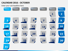 Calendar 2016 PPT slide 10