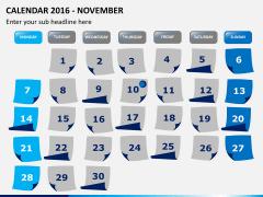 Calendar 2016 PPT slide 11