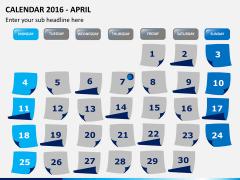 Calendar 2016 PPT slide 4