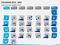 Calendar 2016 PPT slide 5