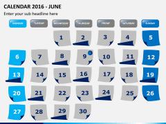 Calendar 2016 PPT slide 6