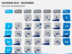 Calendar 2017 PPT slide 11