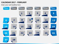 Calendar 2017 PPT slide 2