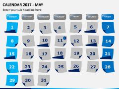 Calendar 2017 PPT slide 5