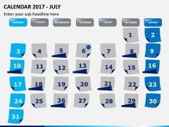 Calendar 2017 PPT slide 7