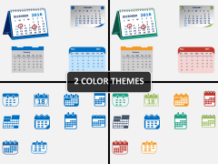 Calendar icons PPT cover slide