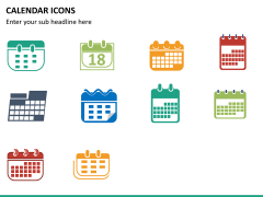 Calendar icons PPT slide 5