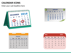 Calendar icons PPT slide 6