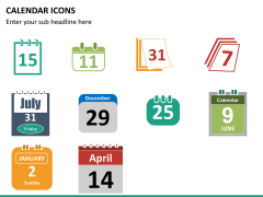 Calendar icons PPT slide 7
