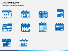 Calendar icons PPT slide 1