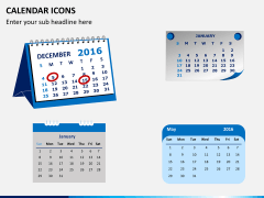 Calendar icons PPT slide 2