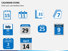 Calendar icons PPT slide 3
