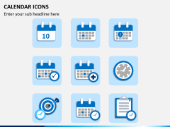 Calendar icons PPT slide 4