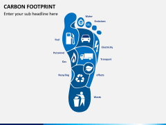 Carbon footprint PPT slide 1