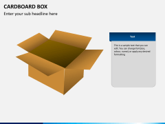Cardboard box PPT slide 2