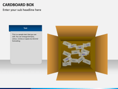 Cardboard box PPT slide 5