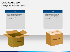 Cardboard box PPT slide 6