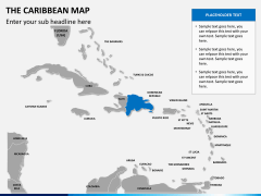The Caribbean map PPT slide 10