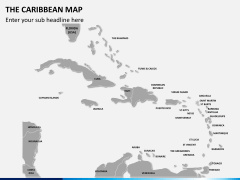 The Caribbean map PPT slide 2