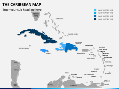 The Caribbean map PPT slide 7