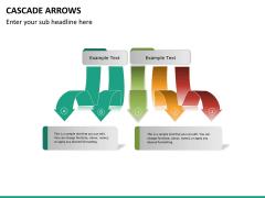 Cascade arrows PPT slide 4