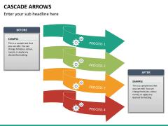 Cascade arrows PPT slide 15