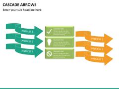 Cascade arrows PPT slide 16