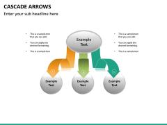 Cascade arrows PPT slide 17