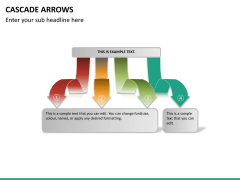 Cascade arrows PPT slide 19