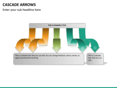 Cascade arrows PPT slide 20