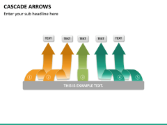 Cascade arrows PPT slide 21