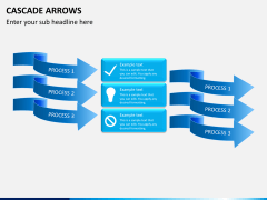Cascade arrows PPT slide 3