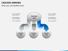 Cascade arrows PPT slide 4