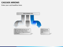 Cascade arrows PPT slide 5