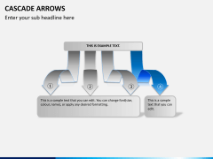 Cascade arrows PPT slide 6