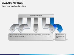 Cascade arrows PPT slide 7