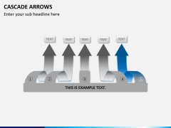 Cascade arrows PPT slide 8