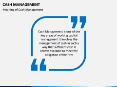 Cash Management PPT slide 2