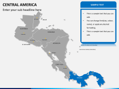 Central america map PPT slide 11
