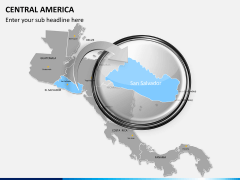 Central america map PPT slide 13